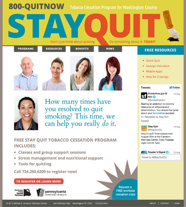 Stay Quit website